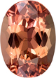 Peach Sherry Topaz Gem in Oval Cut, 12.3 x 9 mm, 5.27 carats