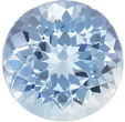 Rare Size in Round Aquamarine Gem, Huge Size, 10.2 mm, 3.87 carats