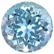 Unique, Hard to Find Size and Shape, Super Well Cut Aquamarine Gem from East Africa, Round Cut, 8.11 Carats