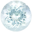 Fiery Round Aquamarine Loose Gem in Stunning Light Seafoam Blue, 11.9 mm, 5.81 carats