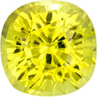 Eye-Catching Chrysoberyl Loose Gem in Cushion Cut, Intense Lemon Yellow, 6.3 mm, 1.48 carats