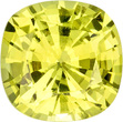 Vivid Yellow Chrysoberyl Loose Gem in Cushion Cut, Vivid Lemon Yellow Color in 6.0 mm, 1.05 carats