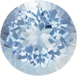 Huge Round Faceted Aquamarine Loose Gem in Round Cut, Medium Rich Blue, 10 mm, 3.64 carats