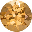 Golden Tinged Peach Topaz Genuine Brazilian Gem in Round Cut, 6 mm, 0.91 Carats