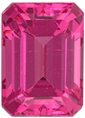 Neon Pink Tanzanian Spinel - Excellent Gem in 7.1 x 5.1 mm, Emerald Cut, 1.43 carats