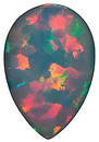 Grade GEM CHATHAM CREATED BLACK OPAL Pear Cut Gems - Calibrated