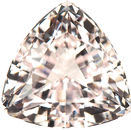Low Price on Large Super Nice Trillion Genuine Morganite Gemstone, 14x14mm, 9.38 carats