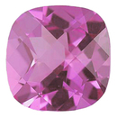 Imitation Pink Tourmaline Antique Square Cut Checkerboard Gems