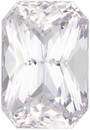 Unheated GIA Certified White Sapphire Colorless Rare Gem in Radiant Cut, 9.53 x 6.54 x 5.32 mm, 3.30 carats