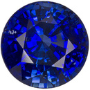 Well Priced Gemmy Blue Sapphire Round Cut, Intense Vivid Blue, 7.4 mm, 2.08 carats