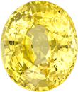 No Treatment Rich Pure Yellow Sapphire Gem in Oval Cut, GIA Certified in 10.68 x 9.02 x 6.62 mm, 5.16 carats