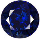 Impressive 11mm Gem Blue Sapphire from Cambodia with Great Color, Cut and Clarity, Round Cut, 6.91 carats