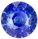 Great Size 10.40mm  Unheated Blue Sapphire Stone. AGL Cert from Ceylon, Round Cut, 5.28 carats