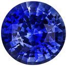 Fiery Brilliant Rich Blue Sapphire Gemstone in 7.6mm Round Cut, 2.11 carats