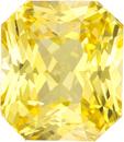 Radiant Cut Rich Pure Yellow Sapphire Gem GIA Certed, 7.68 x 6.65 x 5.05 mm, 2.62 carats