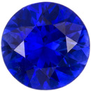 Top Color Blue Sapphire Loose Gem in Round Cut, Open Rich Blue, 4.9 mm, 0.54 carats