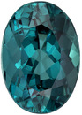 Stunning Bright Blue Tourmaline Loose Oval Cut Gem in Rich Teal Blue, 9.1 x 6.4 mm, 1.90 carats