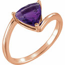14KT Rose Gold Amethyst Ring