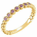 14KT Yellow Gold Amethyst Stackable Ring