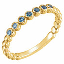 14KT Yellow Gold Aquamarine Stackable Ring