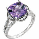 Platinum Amethyst & 3/8 CTW Diamond Ring