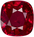 Gorgeous Fine 3.00 ct Mozambique Ruby in Cushion Cut, Vivid Open Red Color in Large 8.22 x 7.62 mm Size with GRS Certificate