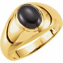14KT Yellow Gold 10x8mm Oval Men's Ring Mounting