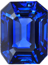 Deal on Blue Sapphire Loose Gorgeous Gemstone in Emerald Cut, Rich Blue Color in 8.57 x 6.48 mm, 2.84 Carats - With CDC Certificate