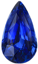5 Carat Ceylon Sapphire Pear Cut Gemstone in Vivid Blue Color, 14.12 x 8.20 mm, 5.05 Carats - With GRS Certificate
