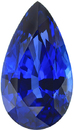 Vivid Blue Genuine Blue Sapphire Pear Cut Gemstone in Pear Cut, Vivid Blue Color in 13.27 x 7.40 mm, 4.3 Carats - With CDC Certificate