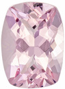 Lively Morganite Loose Gem in Cushion Cut, Rich Pink Peach, 8 x 5.9 mm, 1.21 carats