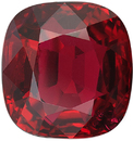 2.02 carat Beautiful Ruby Cushion Cut Loose Gemstone, Clean Nice Red Gem in 6.99 x 6.64 mm, 2.02 Carats - With AIGS Certificate