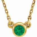 14KT Yellow Gold Chatham Created Emerald 16