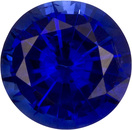 Fiery Loose Vivid Intense Rich Blue Sapphire Gem in Round Cut,, 5.5 mm, 0.8 carats