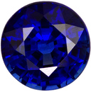 Great Buy in Rich Blue Sapphire Loose Gemstone in Round Cut in 6.3 mm, 1.21 carats