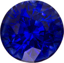 Intense Open Blue Color Sapphire Loose Gemstone Round Cut, Intense Rich Blue, 6.3 mm, 1.45 carats