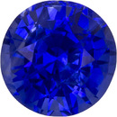 Optimum Color Blue Sapphire Loose Gem in Round Cut, Finest Blue Color, 5.8 mm, 1.13 carats