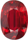 Magnificent Red Ruby Loose Gemstone in Oval Cut, Intense Bright Red, 9.13 x 6.34 mm, 2.32 Carats - With CDC Certificate