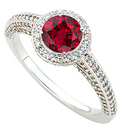 Such a Ruby Ring!  Top Quality GEM Genuine 1 carat 6mm Ruby Dripping in Pave Diamond Ring