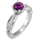 Elegant Sculpted Style 5.80 mm 1 carat GEM Grade Natural Alexandrite Solitaire Engagement Ring - Dazzling Diamond Accents