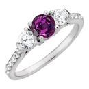 100% Color Change 1 ct GEM Grade Real Brazilian 5.80 mm Alexandrite Engagement Ring with Lots of Diamond Accents