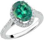 Incredible 1 carat GEM Dramatic 100% Color Change 7.00 x 5.00 mm Alexandrite Mounted in Beautiful Diamond Ring Mounting on SALE