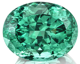 Incredible Bluish Mint Green Tourmaline Gemstone in Mouthwatering Color, 22.89 x 18.08 x 14.18 mm, 38.54 carats - GIA Cert.