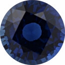 Super Deal On Sapphire Loose Gem in Round Cut, Medium Violet Blue, 7.75 mm, 2.3 Carats