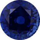 Unique Sapphire Loose Gem in Round Cut, Medium Violet Blue, 7.54 mm, 2.13 Carats