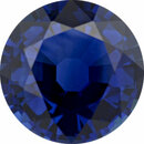 Fabulous Sapphire Loose Gem in Round Cut, Medium Violet Blue, 7.69 mm, 2.08 Carats