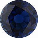 Sharp Sapphire Loose Gem in Round Cut, Medium Violet Blue, 8.94 mm, 3.27 Carats