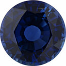 Excellent Sapphire Loose Gem in Round Cut, Medium Violet Blue, 7.81 mm, 2.16 Carats