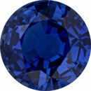 Super Value Sapphire Loose Gem in Round Cut, Medium Violet Blue, 7.11 mm, 1.83 Carats
