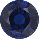 Super Value Sapphire Loose Gem in Round Cut, Medium Violet Blue, 6.99 mm, 1.67 Carats